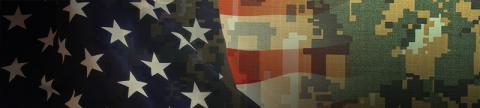 US Flag with camoflauge background